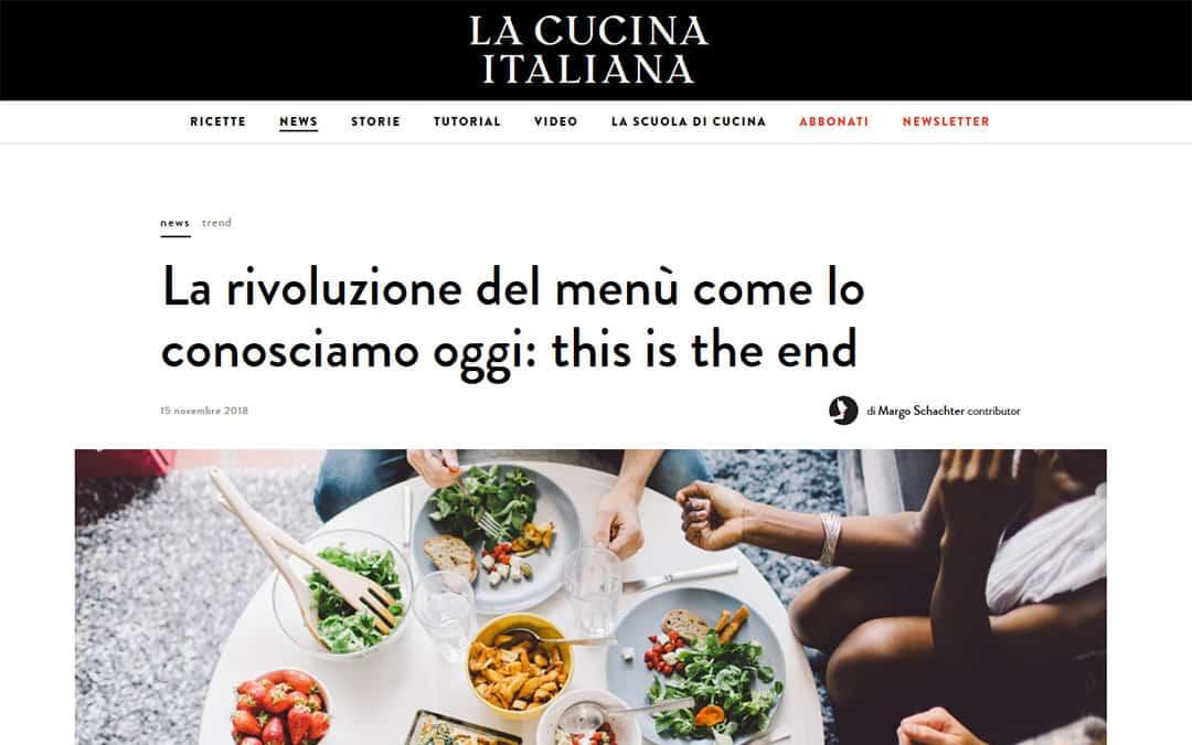 RISTORATORETOP su La Cucina Italiana | La rivoluzione del menù come lo conosciamo oggi: this is the end