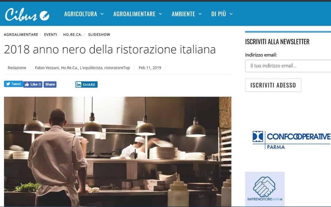 RISTORATORETOP su Cibusonline.net | 2018 anno nero della ristorazione italiana
