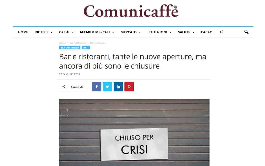 RISTORATORETOP su Comunicaffe.it | Bar e ristoranti, tante le nuove aperture, ma ancora di più sono le chiusure