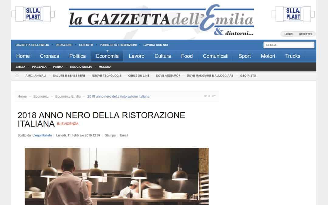 RISTORATORETOP su Gazzettadellemilia.it | 2018 anno nero della ristorazione italiana