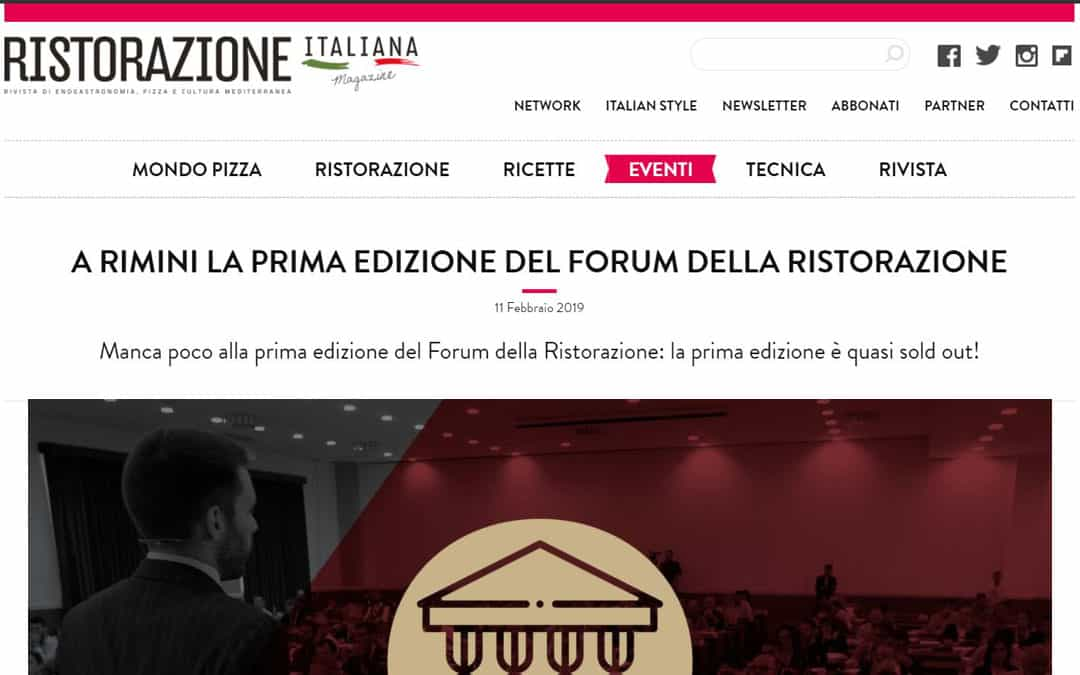 RISTORATORETOP su Ristorazioneitalianamagazine.it | A Rimini la prima edizione del forum della ristorazione