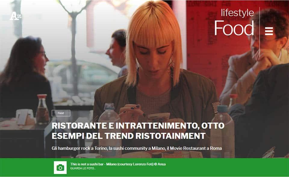 RISTORATORETOP su ANSA.it | Ristorante e intrattenimento, otto esempi del trend Ristotainment