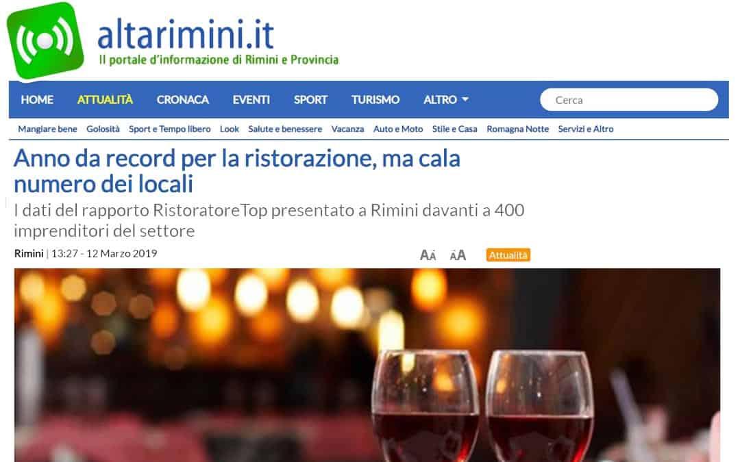 RISTORATORETOP su Altarimini.it | Anno da record per la ristorazione, ma cala numero dei locali
