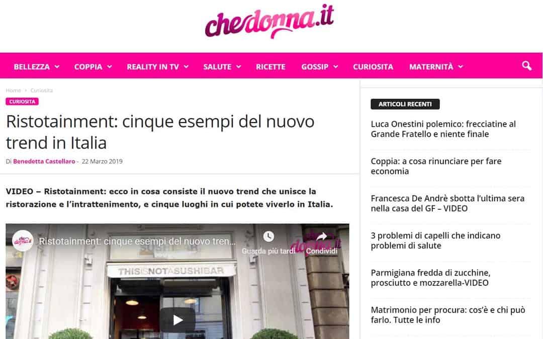 RISTORATORETOP su Chedonna.it | Ristotainment: cinque esempi del nuovo trend in Italia