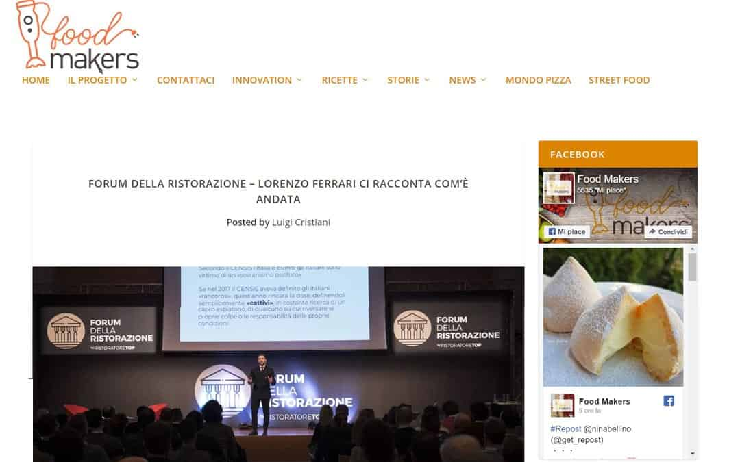 RISTORATORETOP su Foodmakers.it | Forum della Ristorazione – Lorenzo Ferrari ci racconta com'è andata