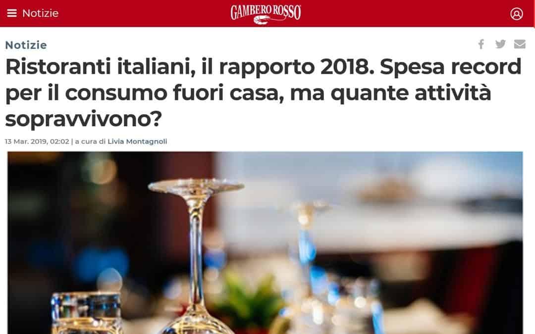 RISTORATORETOP su GamberoRosso.it | Ristoranti italiani, il rapporto 2018. Spesa record per il consumo fuori casa, ma quante attività sopravvivono?