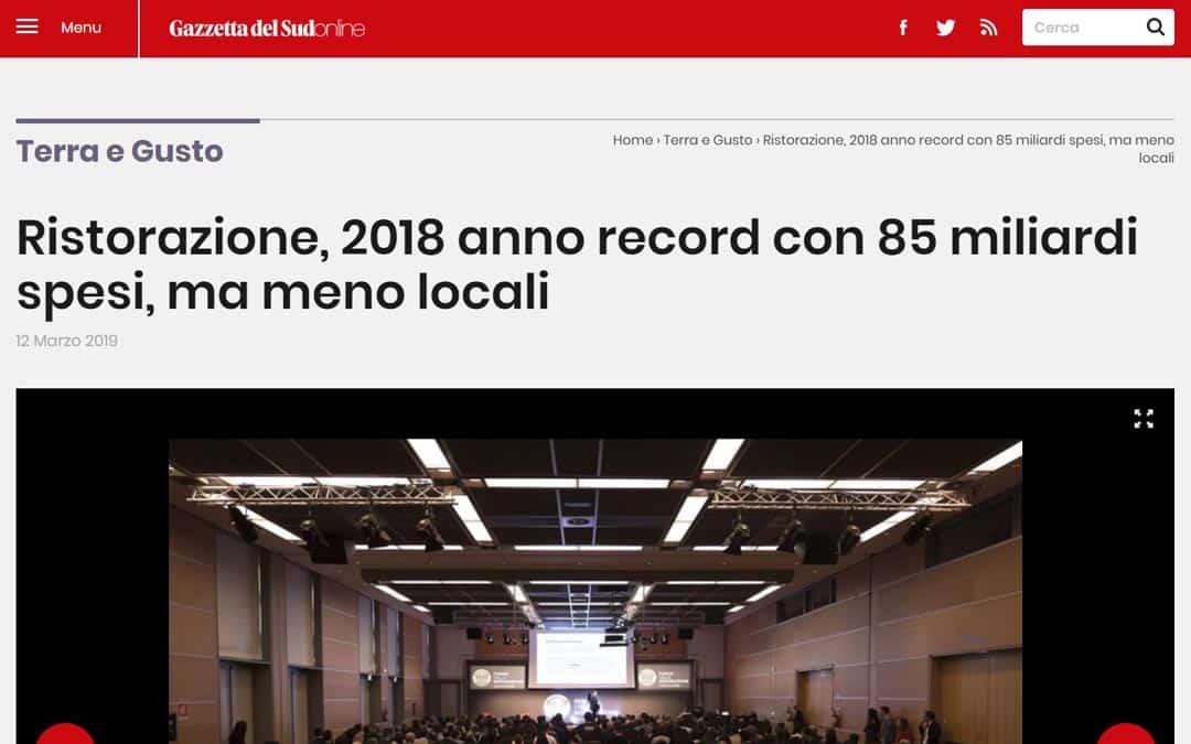 RISTORATORETOP su Gazzettadelsud.it | Ristorazione, 2018 anno record con 85 miliardi spesi, ma meno locali