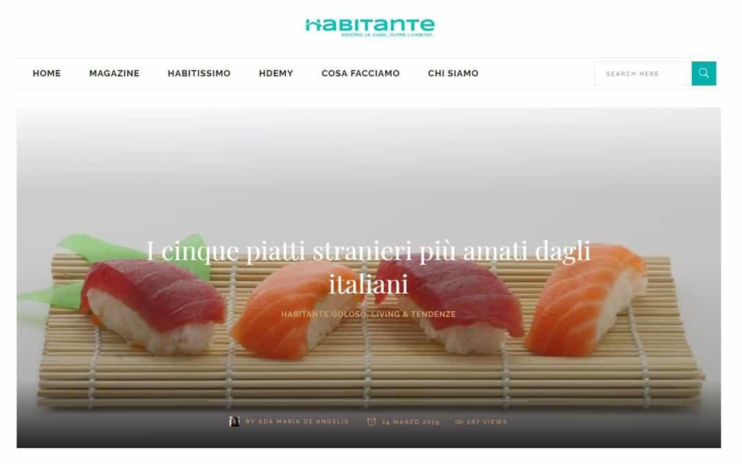 RISTORATORETOP su Habitante.it | I cinque piatti stranieri più amati dagli italiani