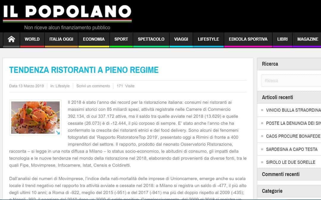 RISTORATORETOP su Ilpopolano.com | Tendenza ristoranti a pieno regime