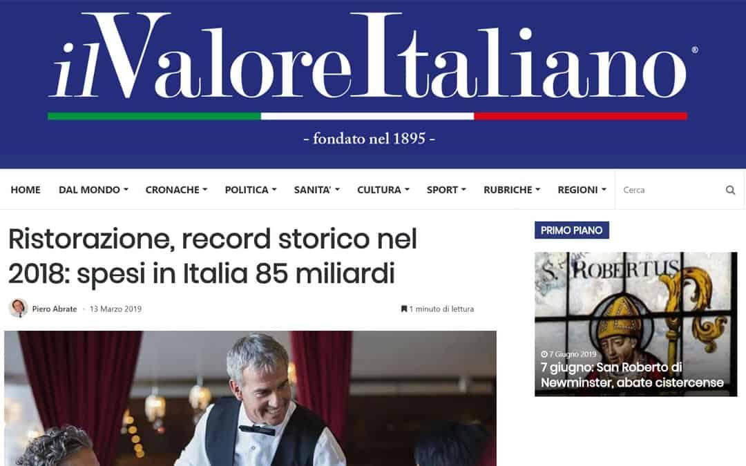 RISTORATORETOP su Ilvaloreitaliano.it | Ristorazione, record storico nel 2018: spesi in Italia 85 miliardi