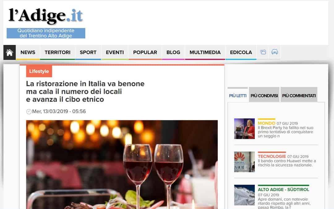 RISTORATORETOP su ladige.it | La ristorazione in Italia va benone ma cala il numero dei locali e avanza il cibo etnico