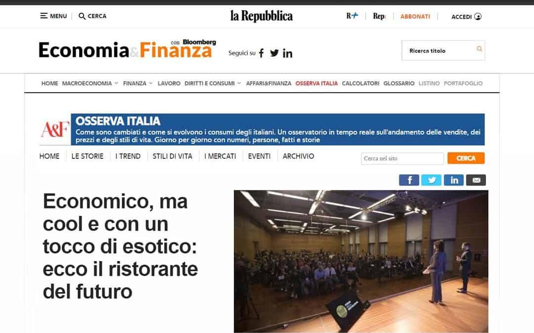 RISTORATORETOP su Repubblica.it | Economico, ma cool e con un tocco di esotico: ecco il ristorante del futuro