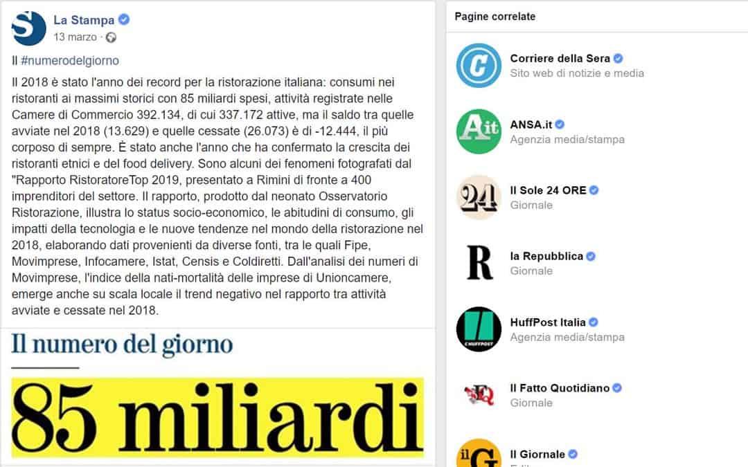RISTORATORETOP su LaStampa.it | Il 2018 è stato l'anno dei record per la ristorazione italiana