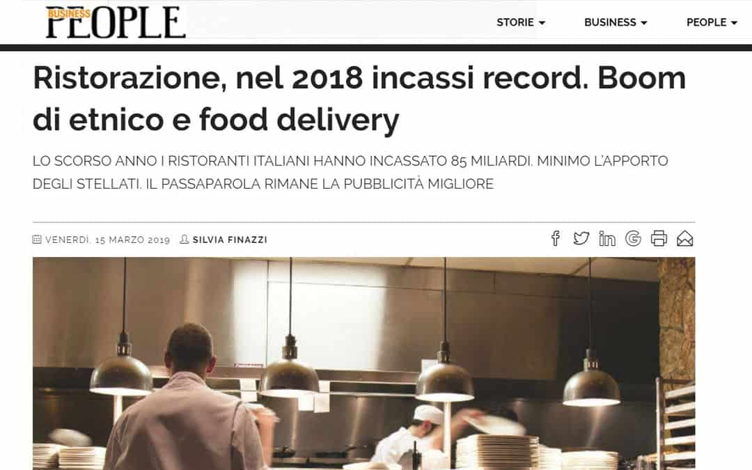 RISTORATORETOP su BusinessPeople.it | Ristorazione, nel 2018 incassi record. Boom di etnico e food delivery