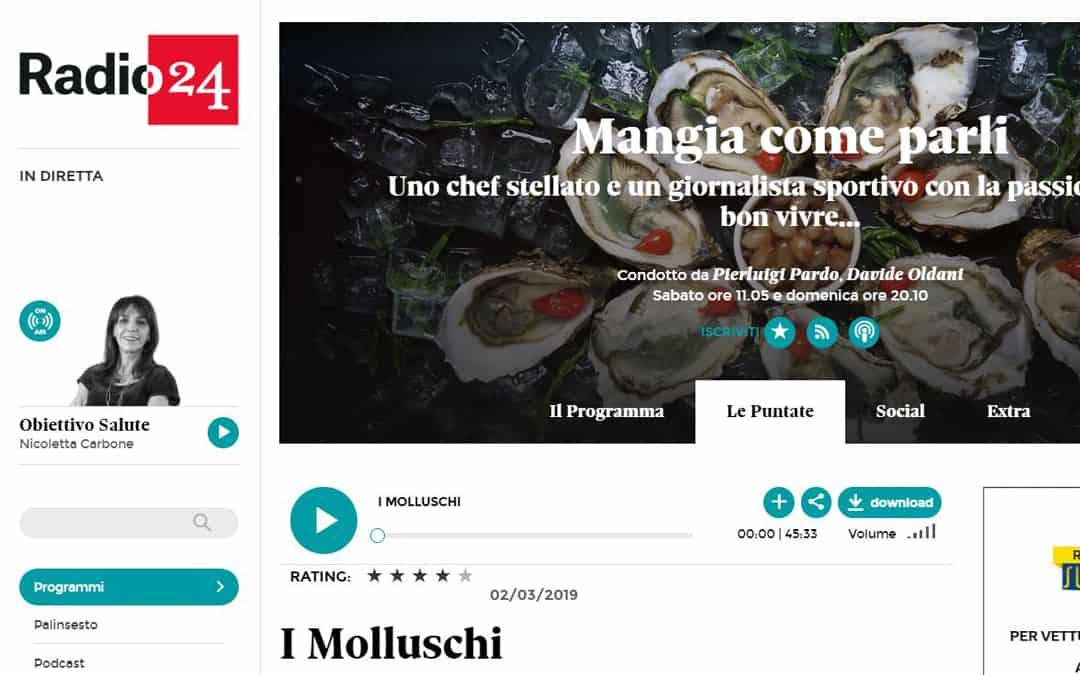 RISTORATORETOP su Radio 24 | I Molluschi