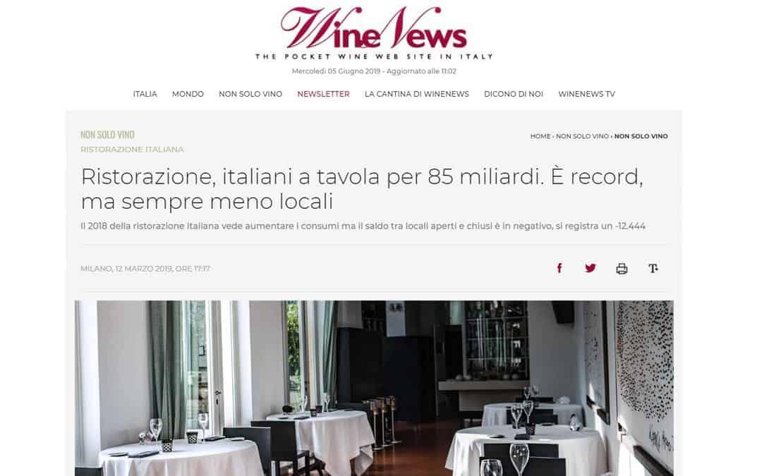 RISTORATORETOP su Winenews.it | Ristorazione, italiani a tavola per 85 miliardi. È record, ma sempre meno locali